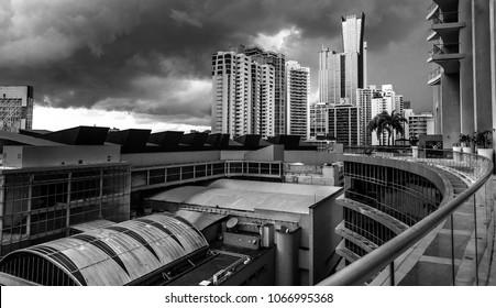 High rises in Panama City, black-white style