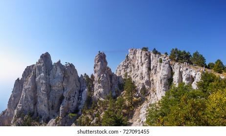 High rocks Ai-Petri of Crimean mountains
