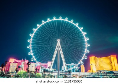 high roller at night.  -las vegas,usa.