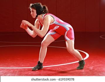 Imágenes, fotos de stock y vectores sobre Woman Wrestler