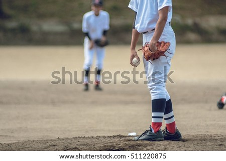High school baseball player