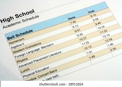 High School Class Schedule