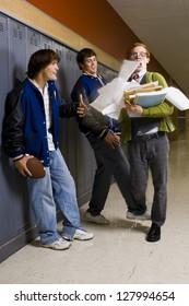 High School Jocks and a Nerd.