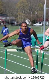 High School Track Hurdles