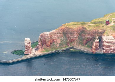the high sea island Helgoland in the North Sea from above