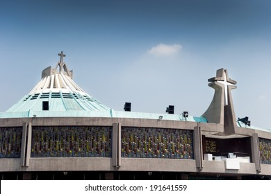 High section view of a Basilica, Basilica Of Our Lady Of Guadalupe, Mexico City, Mexico