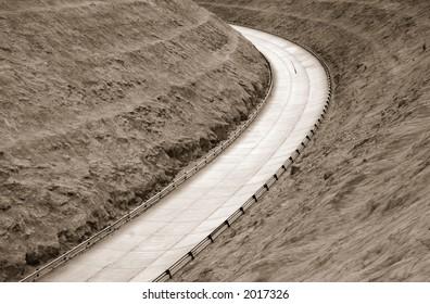 High speed concrete highway turn