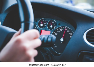 High speed driving on the road
