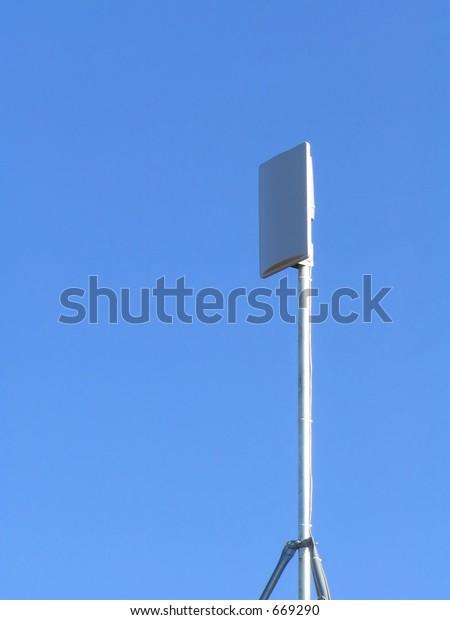 High Speed Internet Wireless Broadband Receiver Stock Photo (Edit