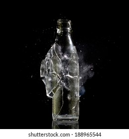 high speed photo of bottle explosion