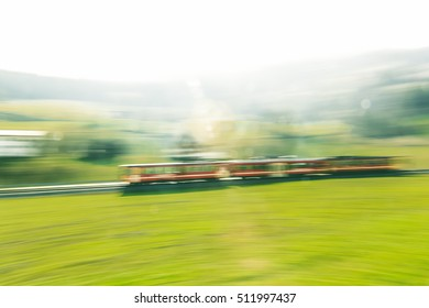 high speed railway drives to green nature austria