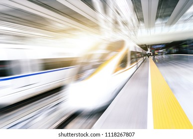 high speed train via railway station