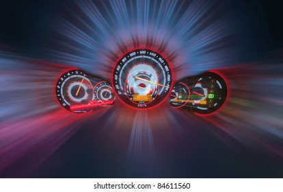 High speed  ,zoom and blur background