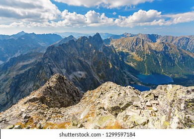 High Tatra Mountains, aerial view from Rysy peak