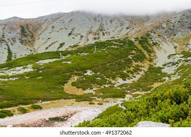 High Tatra Mountains (Vysoke Tatry) a mountain range along the border of Slovakia and Poland