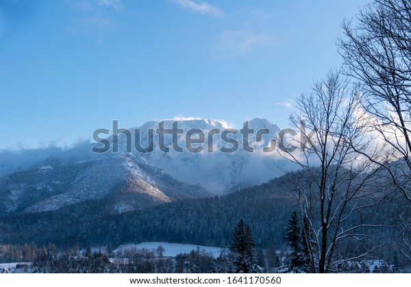 High Tatras covered with snow