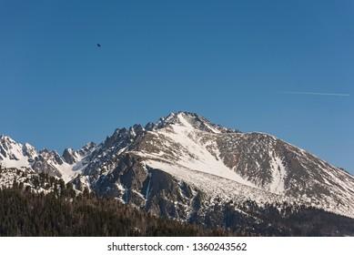 High Tatras mountain view from Strbske Pleso, Slovakia