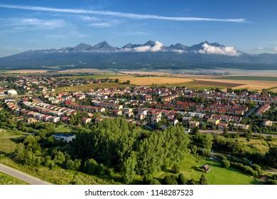 High Tatras mountains  and city Poprad, Slovakia
