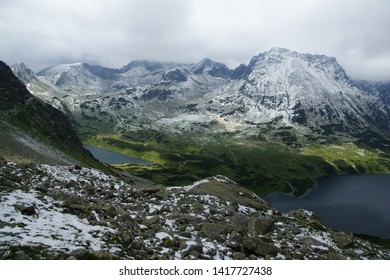 High Tatras Mountains. Peak of Kozi Wierch and Five Lakes Valley