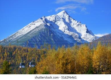 High Tatras mountains ski resort Tatranska Lomnica tatra slovakia europe