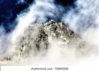 The High Tatras Mountains (Vysoké Tatry, Tatry Wysokie, Magas-Tátra), are a mountain range along the border of Slovakia in the Prešov Region, and southern Poland in the Lesser Poland Voivodeship.