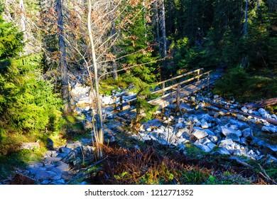 The High Tatras Mountains (Vysoke Tatry, Tatry Wysokie, Magas-Tatra), are a mountain range along the border of Slovakia in the Presov Region, and southern Poland in the Lesser Poland Voivodeship.