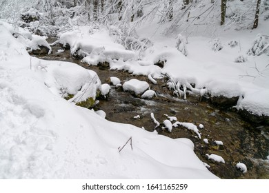 High Tatras river in winter