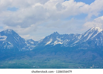 High Tatras in Slovakia, view from Poprad city