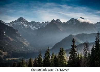 High Tatras in snow