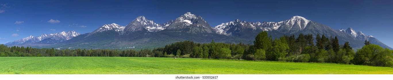 High Tatras spring panorama