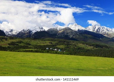High Tatras with Tatranska Strba town