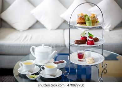High tea set with dessert,Afternoon tea set