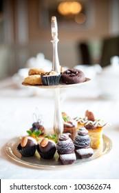 High Tea sweet desserts on tray