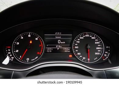 High tech car instrument LCD panel