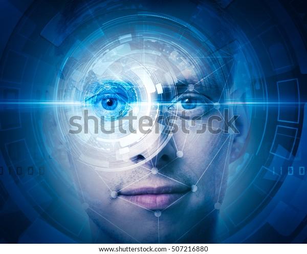 high tech face scan