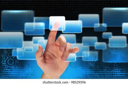 High tech interface - touchscreen