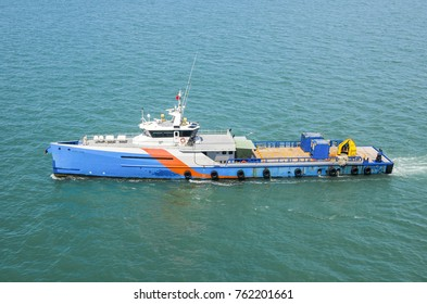 High tech offshore oil and gas platform supply vessel