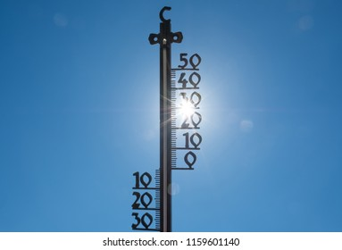High temperature of an external tome during the heatwave