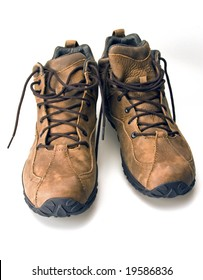 High top mountain climbing hiking lace up boots rubber sole