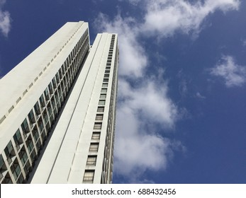 The high tower which under the blue sky