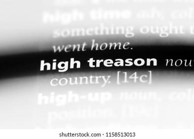 high treason word in a dictionary. high treason concept.