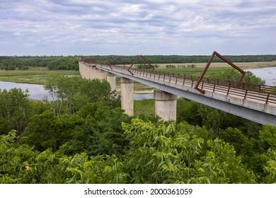 High Trestle Trail Bridge - A former railroad line turned into a bike trail.