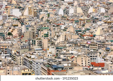 High urban density in Athens, Greece