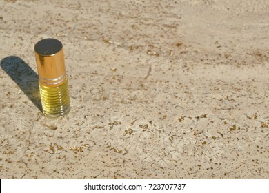 High view of anointing oil.