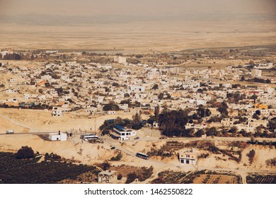 High view of city of Jericho, Israel