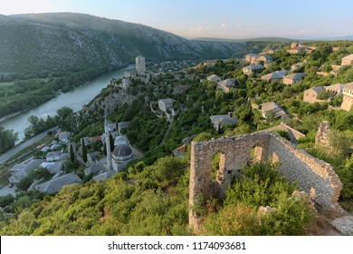 high view medieval Pocitelj fortified town, Bosnia and Herzegovina