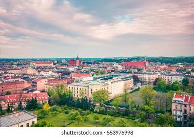 High view on Krakow city