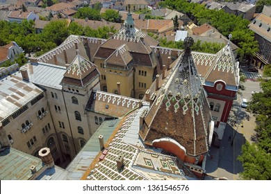 high view Subotica roof City Hall, Serbia
