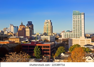 High viewpoint of downtown Sacramento
