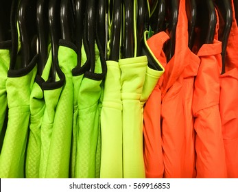 High visibility colourful sports tops